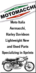 Moto Italia Aermacchi, Harley Davidson Lightweight New and Used Parts Specializing in Sprints.